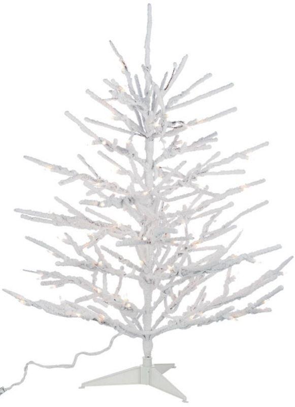 White Pre Lit Pencil Christmas Tree