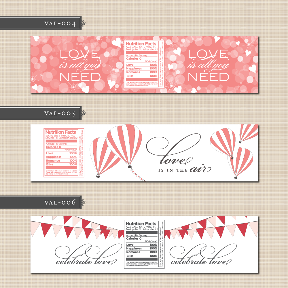 free printable water bottle labels template printing them on