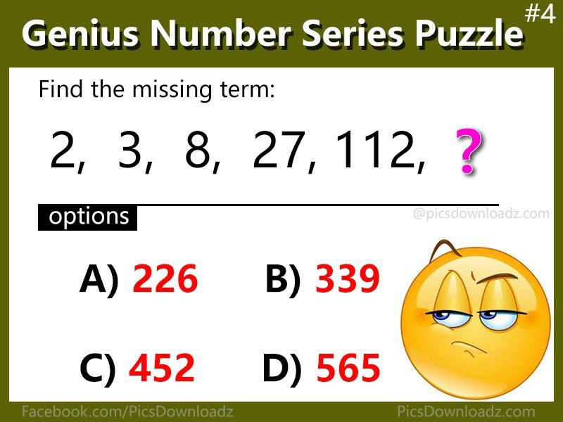 5 Number Series Puzzles that will blow your mind – Genius Math ...