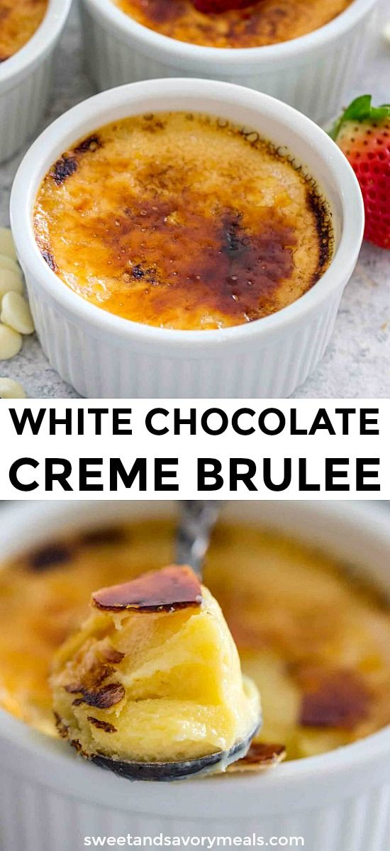 White Chocolate Creme Brulee [VIDEO] - Sweet and Savory Meals #cremebrulée