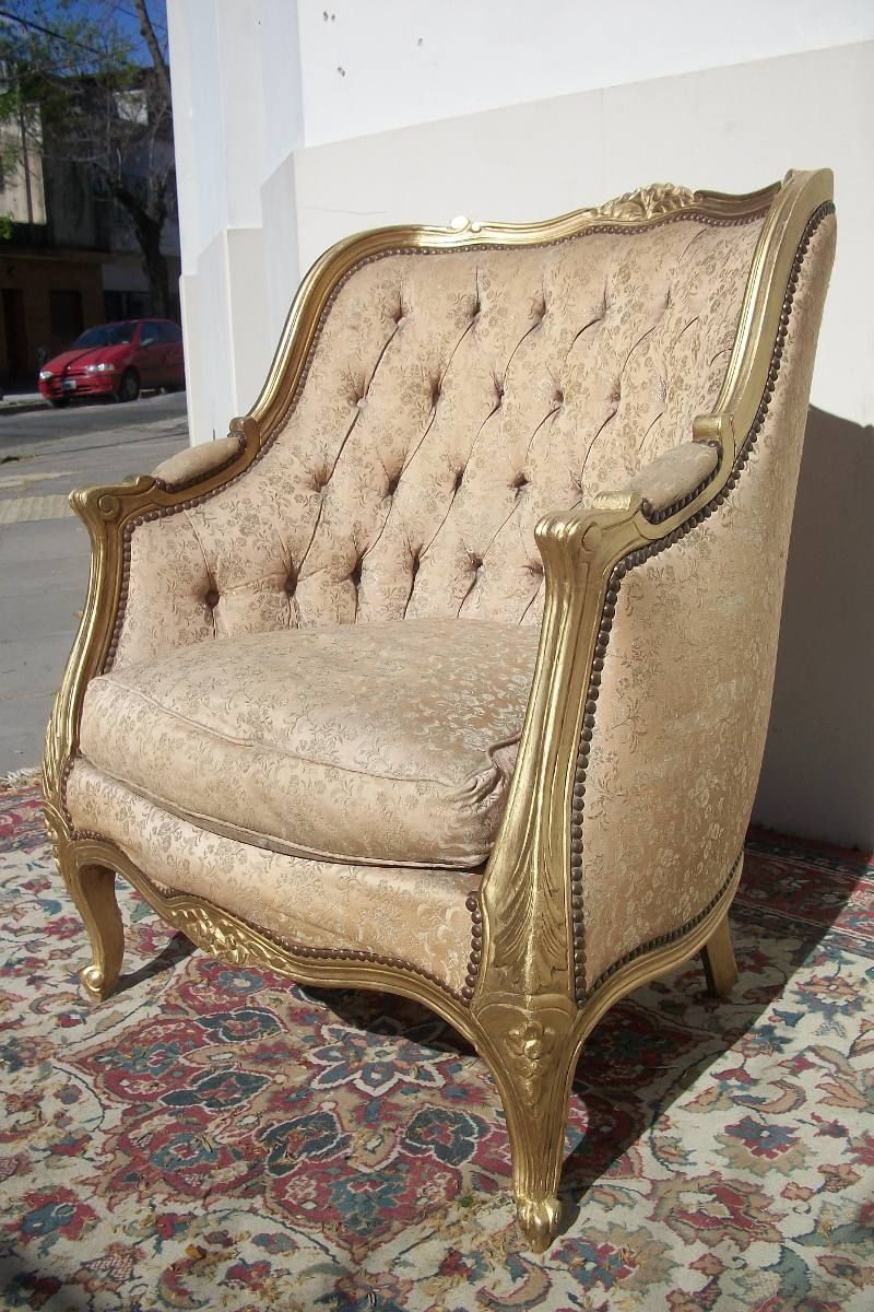Antiguos sillones estilo luis xv frances living canape for Muebles antiguos luis xv