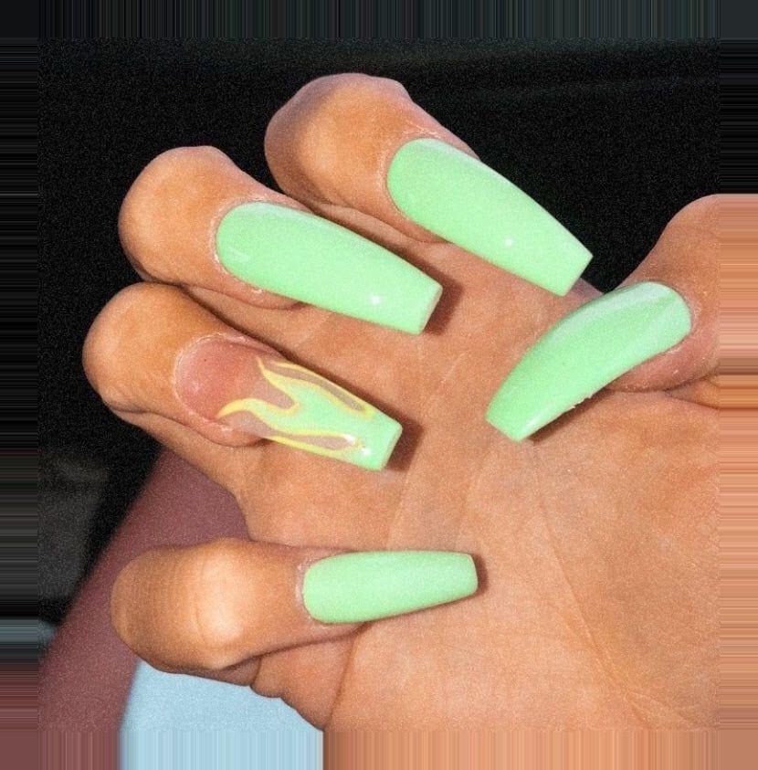Loading Green Acrylic Nails Baby Blue Acrylic Nails Nail Designs Summer Acrylic