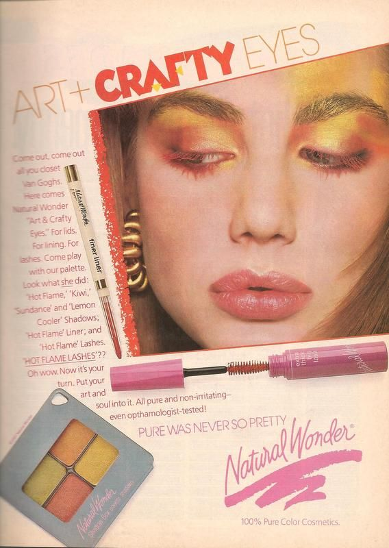 Vintage 80s Natural Wonder Makeup Ad from Teen Magazine ...