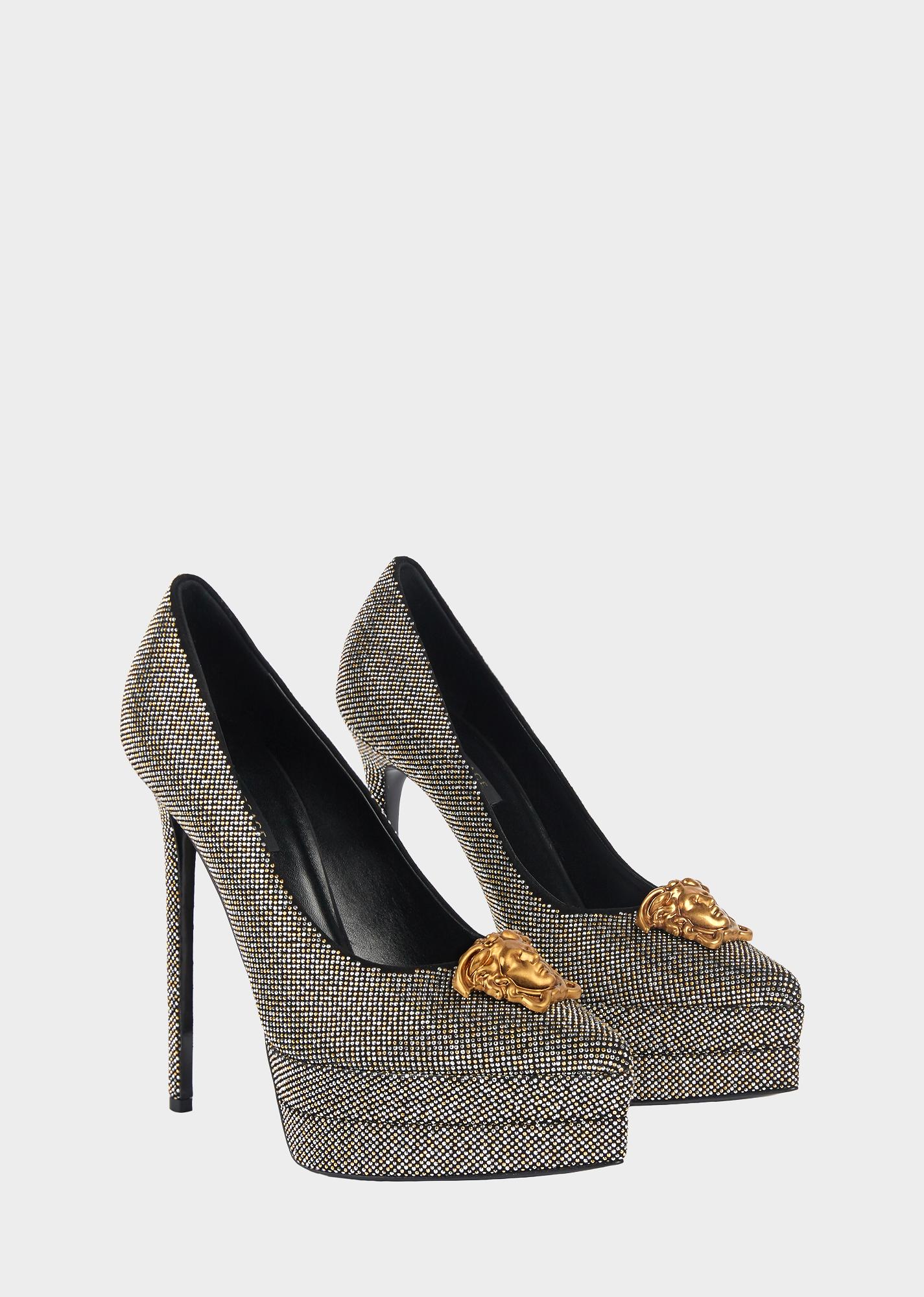 5013c813d68e4 VERSACE Platform Stud Palazzo Pumps. #versace #shoes | Versace in ...