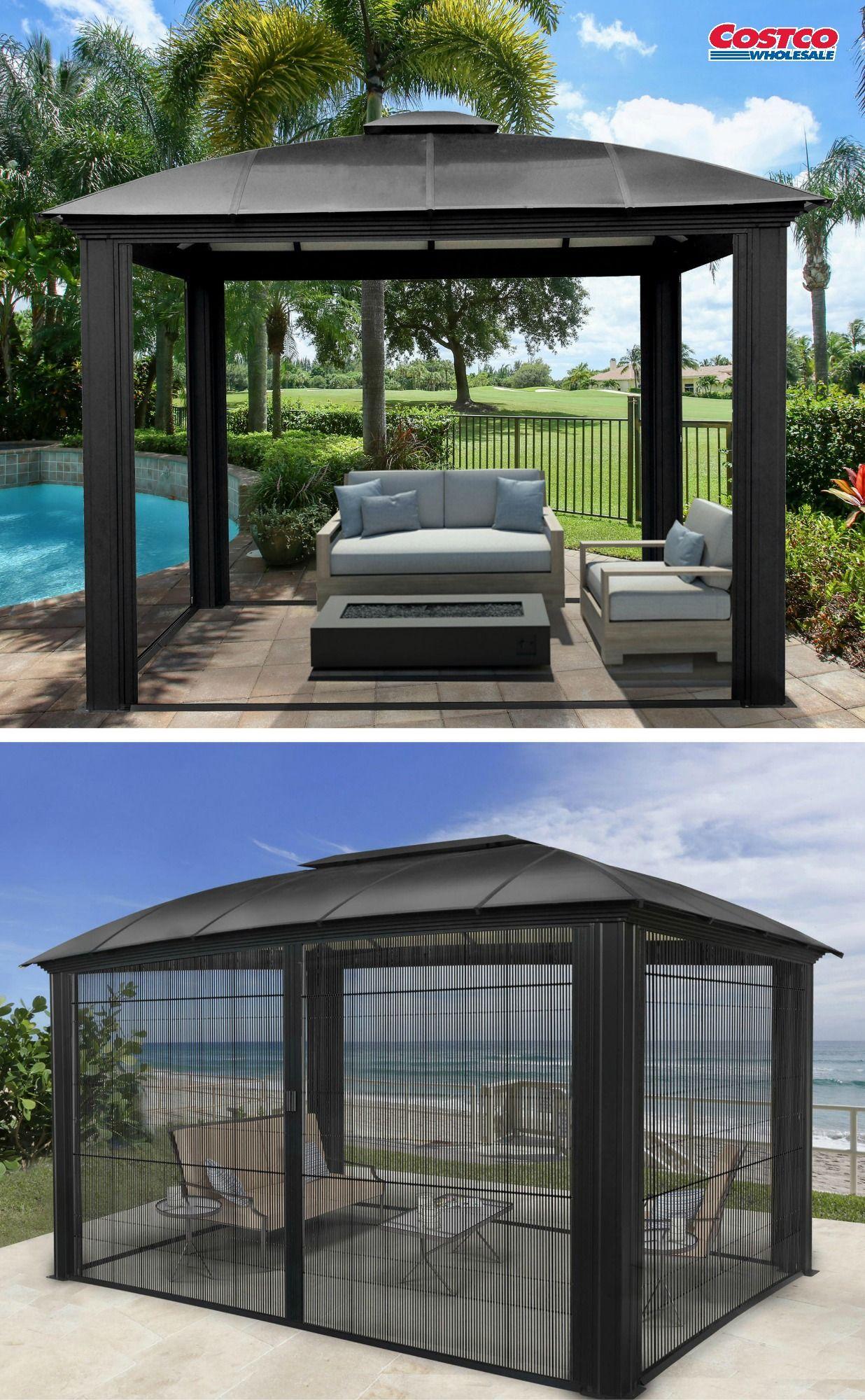 enclosed pergola designs on siena aluminum gazebo by paragon outdoor patio gazebo aluminum gazebo backyard gazebo siena aluminum gazebo by paragon