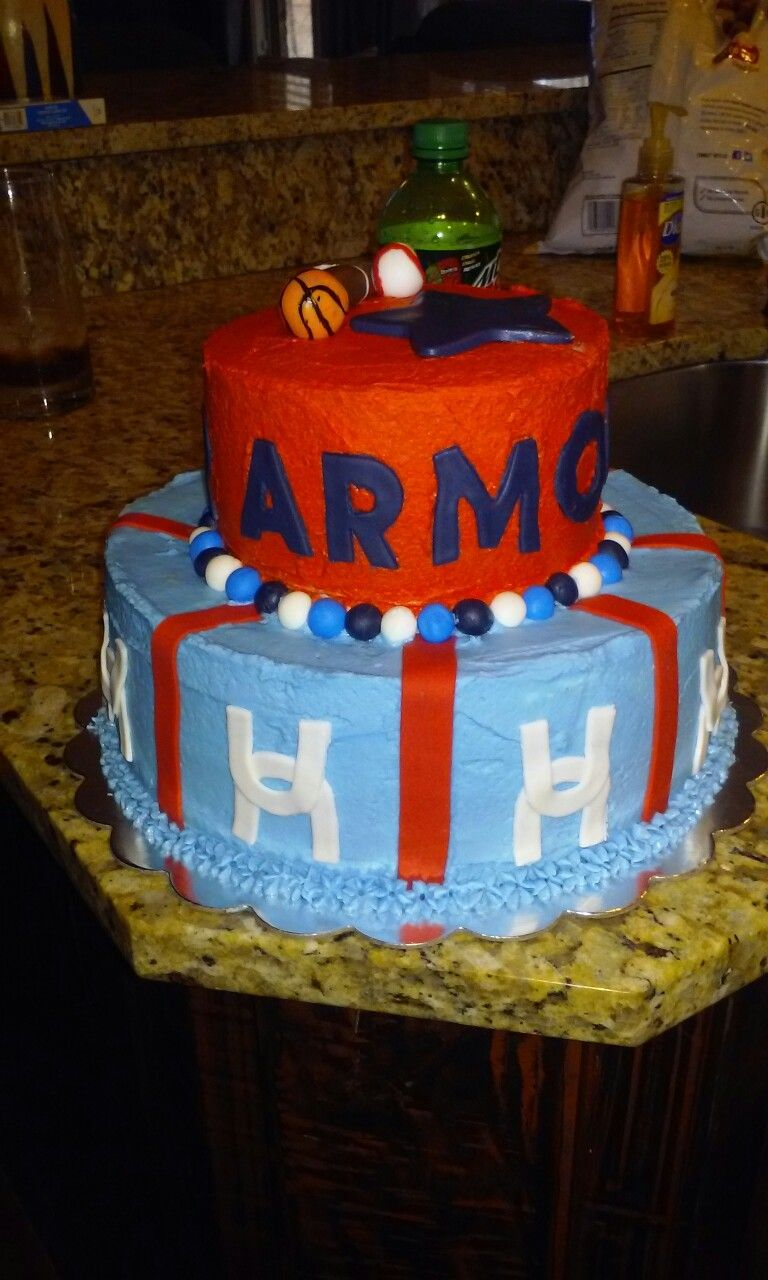 My Son Blakes Under Armour Cake Cakes I Have Made Pinterest