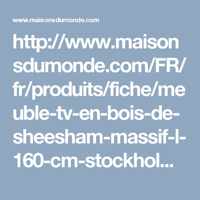 Meuble TV 3 tiroirs en bois de sheesham massif