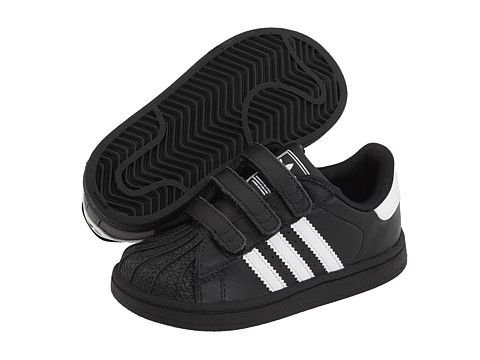 adidas Originals Kids Superstar 2 H\u0026L (Infant/Toddler) Black/White/Black