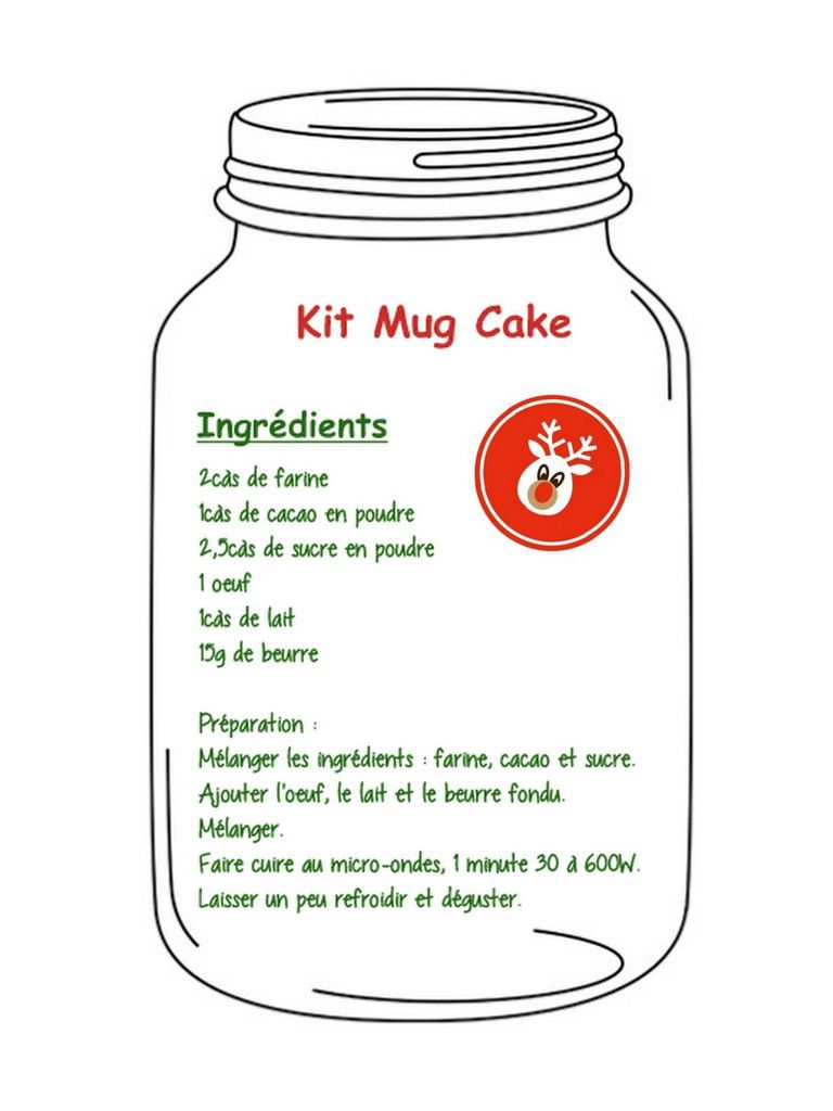 kit mug cake pour cadeau gourmand a offrir pinterest g teaux mug cakes et mugs. Black Bedroom Furniture Sets. Home Design Ideas