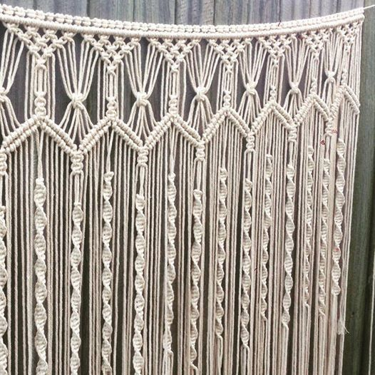 handmade macrame wall hanging 1m wide x 120cm long boho wall art wedding backdrop macrame. Black Bedroom Furniture Sets. Home Design Ideas
