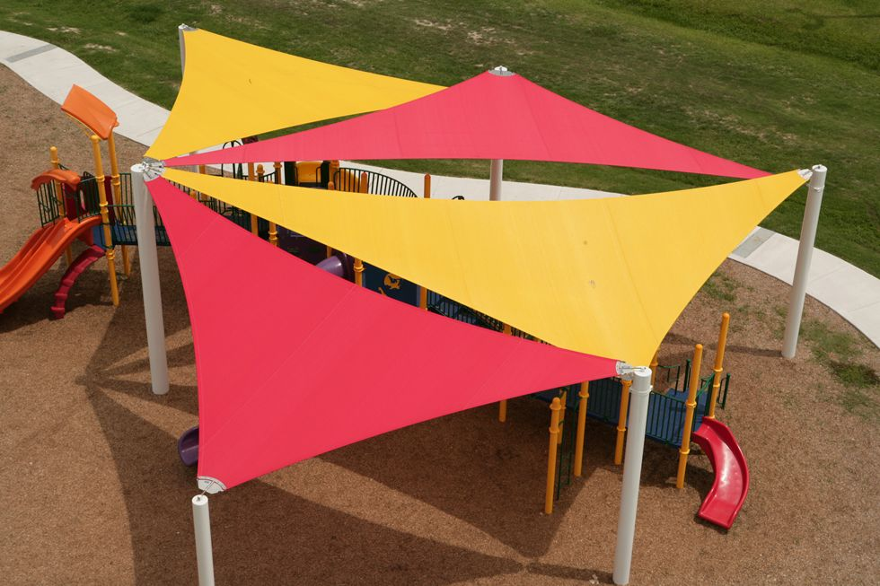 Fabric Shade Sails By Shade Systems   Shade Canopies And Covers For  Climbing Wall
