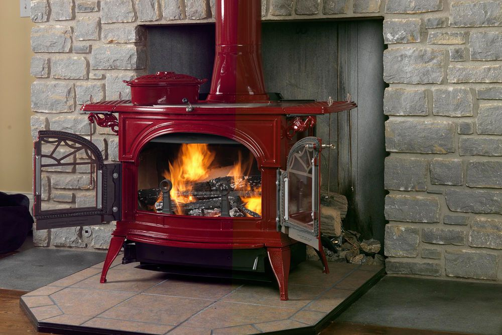 Vermont Castings Wood Stove Defiant Flex Burn Cast Iron