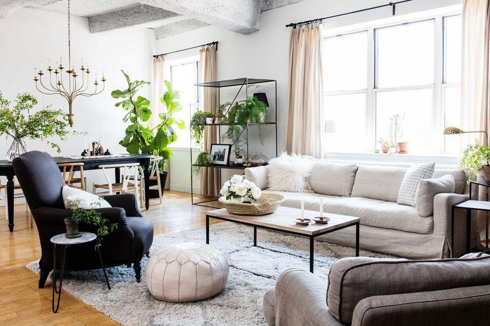 Tranquil Design Whitewashed Walls With Plants Home Tour Wohungsdekoration Haus Deko Erste Wohnung Dekorieren