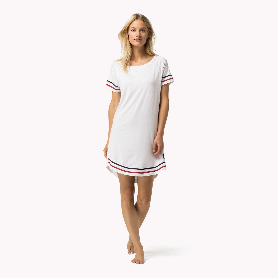Shop the white modal short sleeve dress from the latest tommy