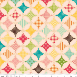 Fabric - October Afternoon - Fly a Kite - Ice Cream in Pink -- I want to make a tote in this.