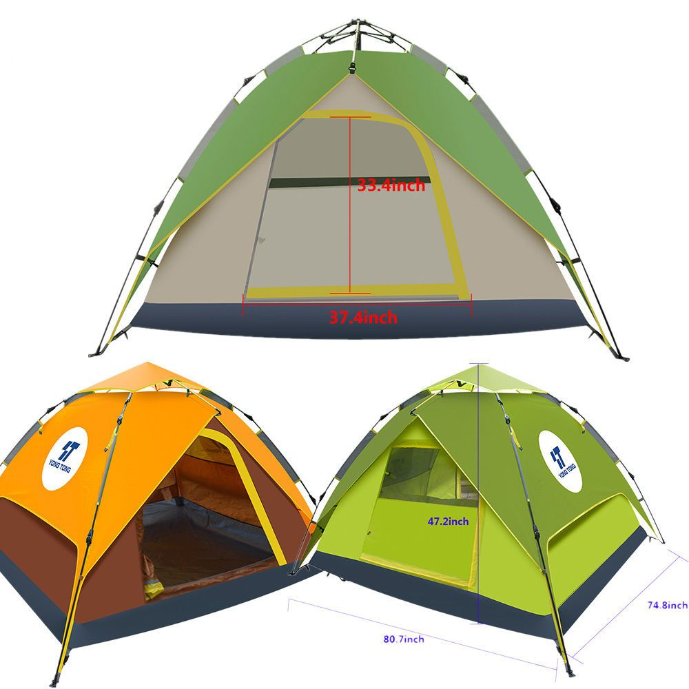Automatic Waterproof Outdoor 4 Season Pop up Tent C&ing Hiking People Tent  sc 1 st  Pinterest & Waterproof Automatic 4-5 People Outdoor Instant Pop up Tent ...