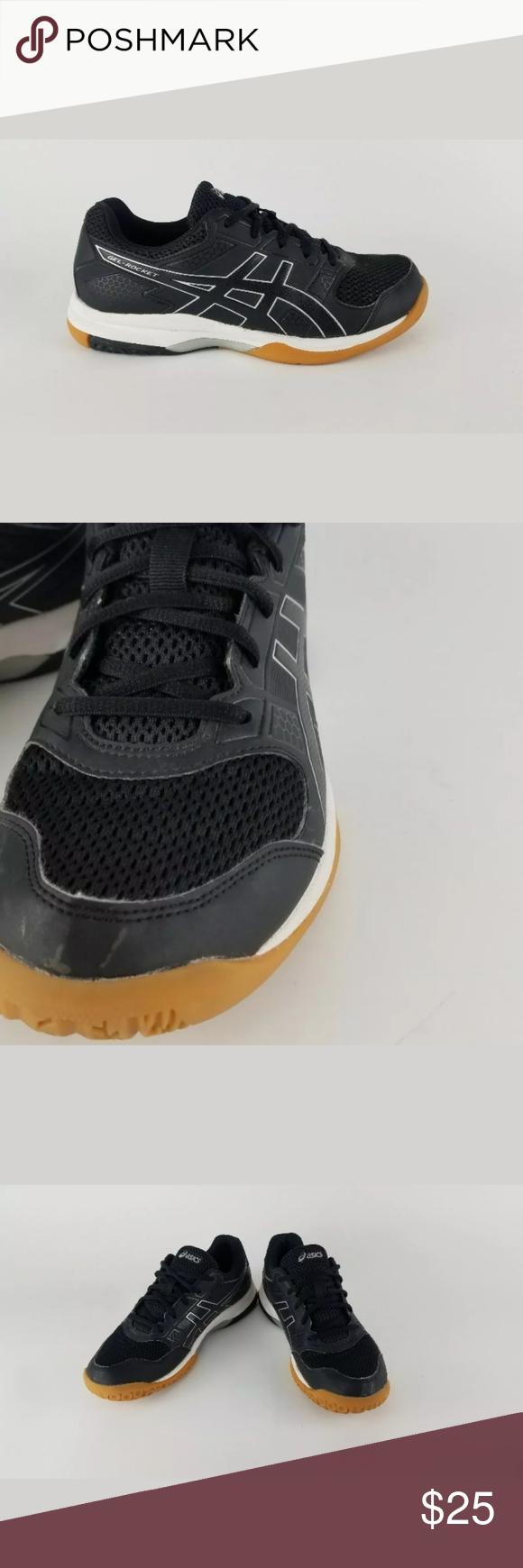 Asics Gel Rocket Volleyball Shoes Black W Sz 8 5 Black Shoes Volleyball Shoes Womens Shoes Sneakers