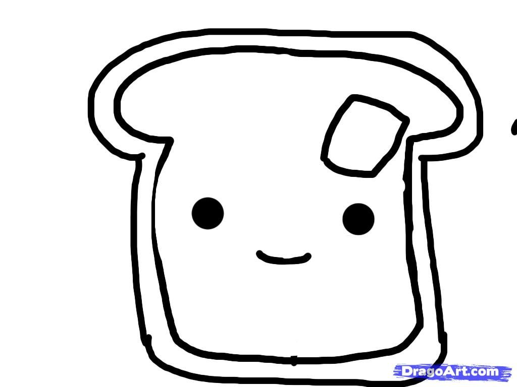 French Toast Coloring Sheets
