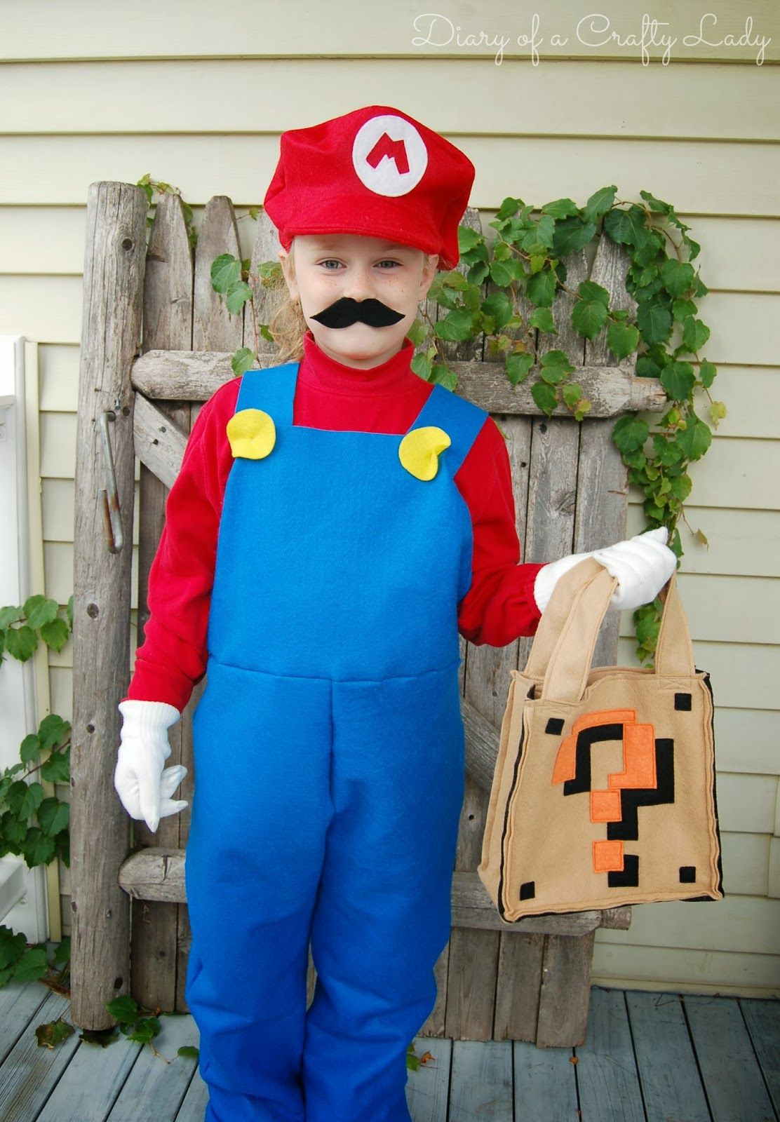 diary of a crafty lady: super mario brothers custom felt trick-or