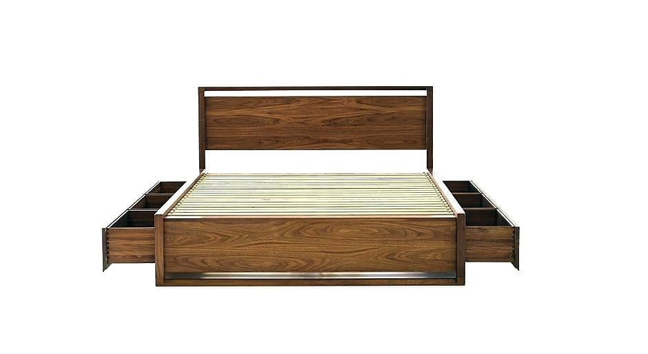 Comfortable Queen Size Bed Frame With Storage Underneath Arts
