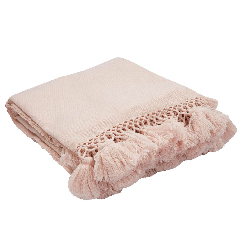 Blush Pink Throw Blanket Kate Spade New Yorkjaipur Seaport Tassel Crystal Pink Throw