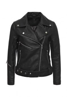 Куртка кожаная Medicine, цвет: черный. Артикул: ME024EWKAL79. Женская одежда / Верхняя одежда / Кожаные куртки