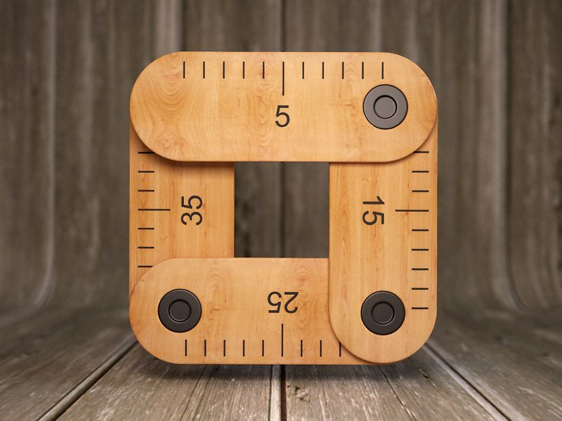 Measure Ios icon, App icon design, Mobile app icon