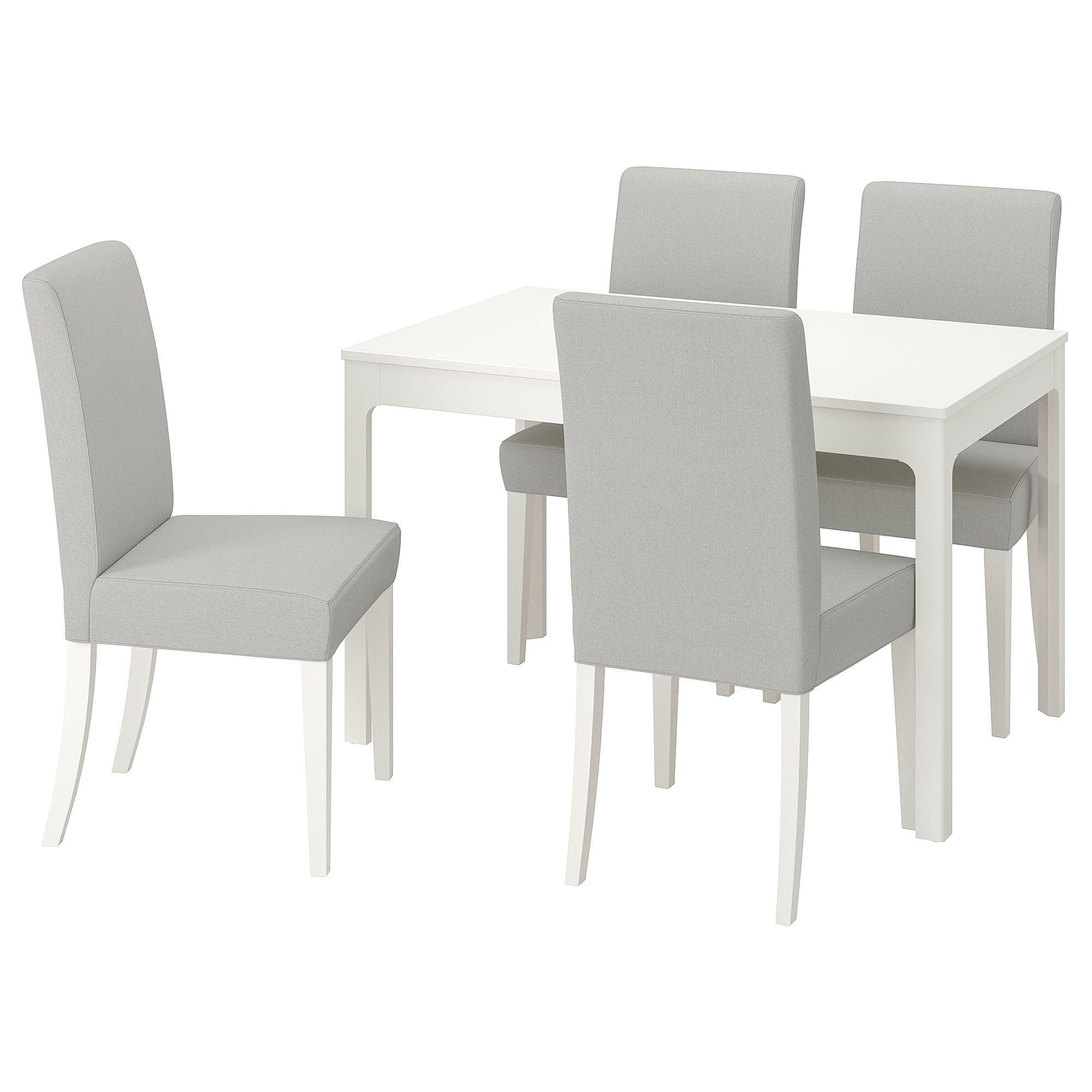 IKEA EKEDALEN / HENRIKSDAL White, Orrsta Light Gray Table