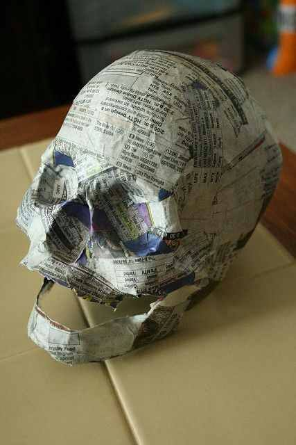 great tutorial how to make your own paper skull more art rh pinterest com