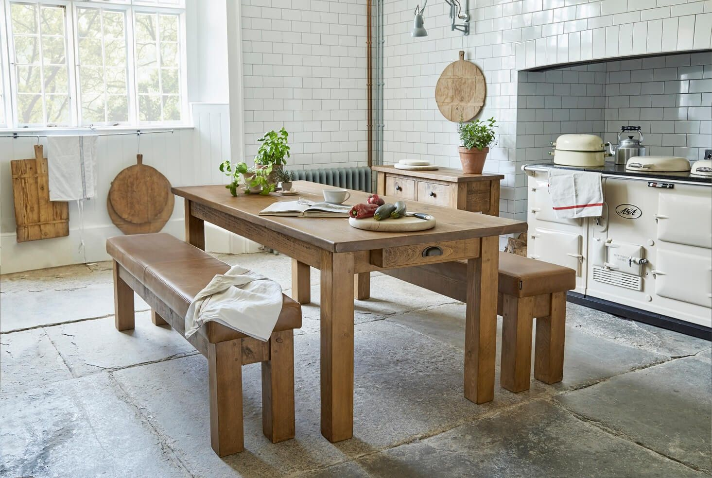 The Miller's Farmhouse Plank Table Dining table with