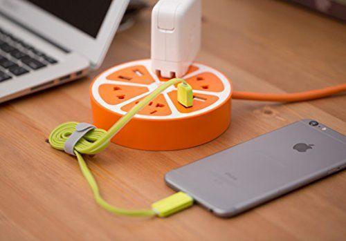 Berry President® USB Charger, Lemon Style Outlet, Power Strip, Socket, 8 Insert Bits Charging Socket (Orange) by Berry President, http://www.amazon.co.uk/dp/B016ER5PCA/ref=cm_sw_r_pi_dp_2xluwb0HTNMHT