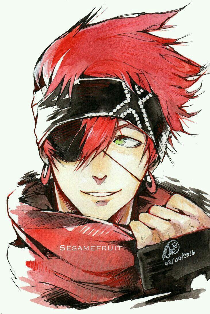Male Human Rogue Eyepatch Headband Red Hair Elric Ember Red Hair Anime Guy Anime Anime Guys