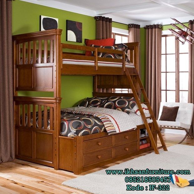 jual tempat tidur 2 tingkat jati desain tempat tidur 2