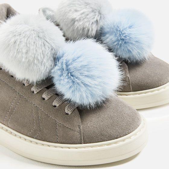 Imagem 3 De Sapatilha Pele Pompons Da Zara To Buy List