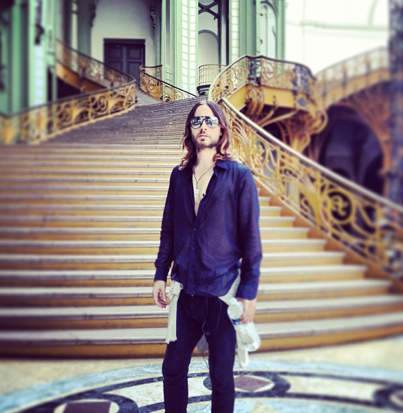 Jared Leto au Grand Palais