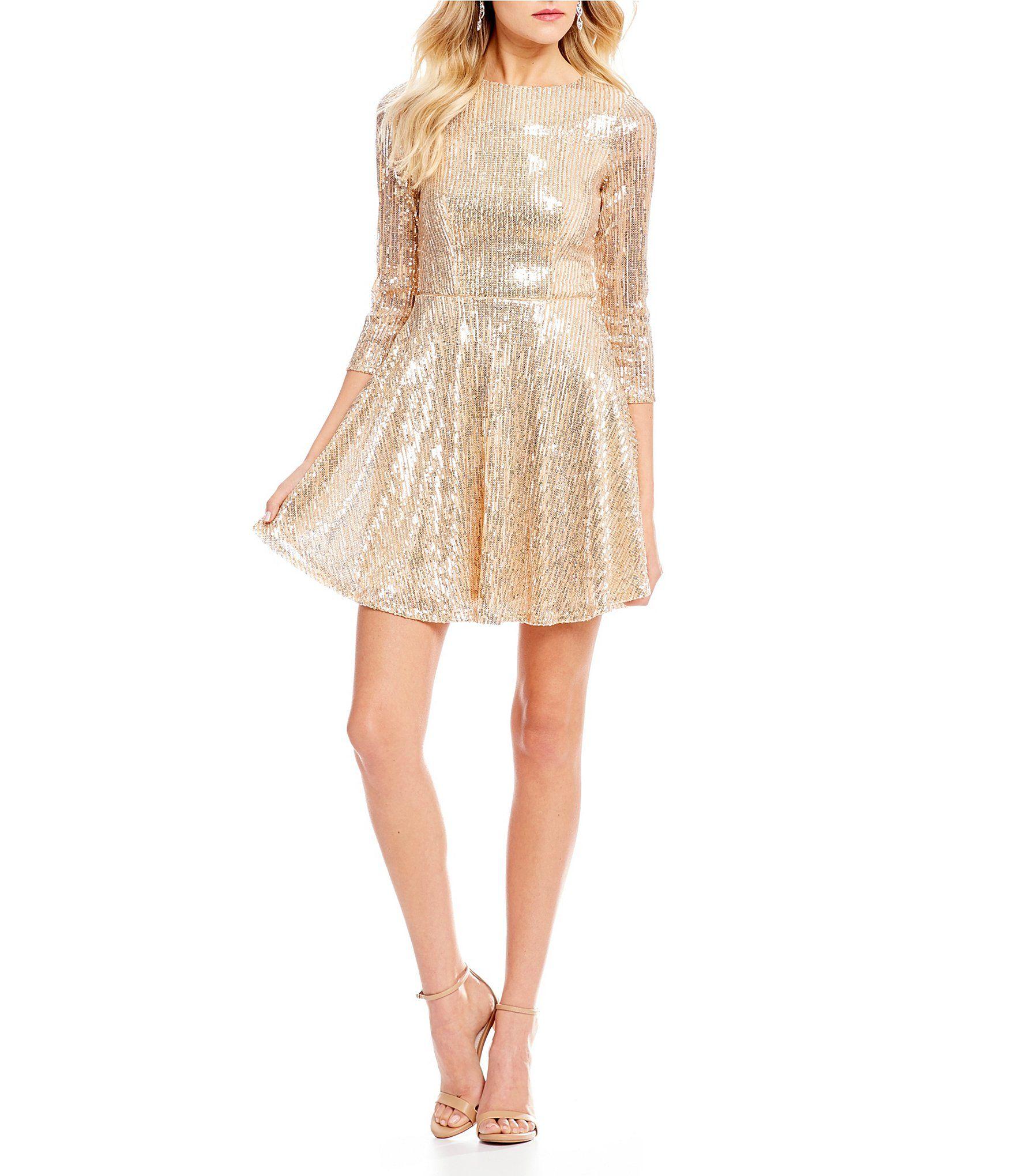 f0894b5929d Champagne Cocktail Dress Dillards