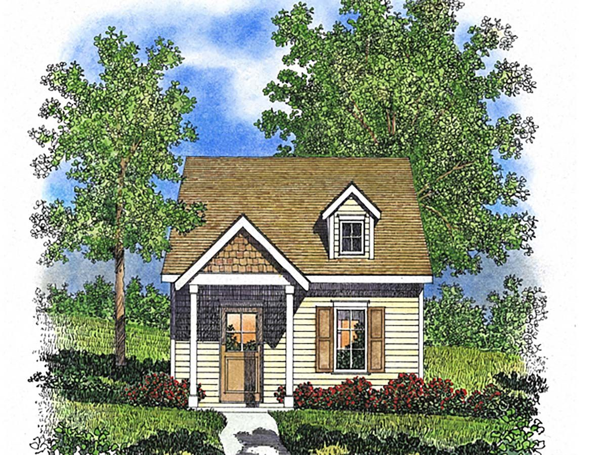 One Story Style House Plan 45165 With 1 Bed 1 Bath In 2020 House Plans Tiny House Floor Plans Interior Wall Design