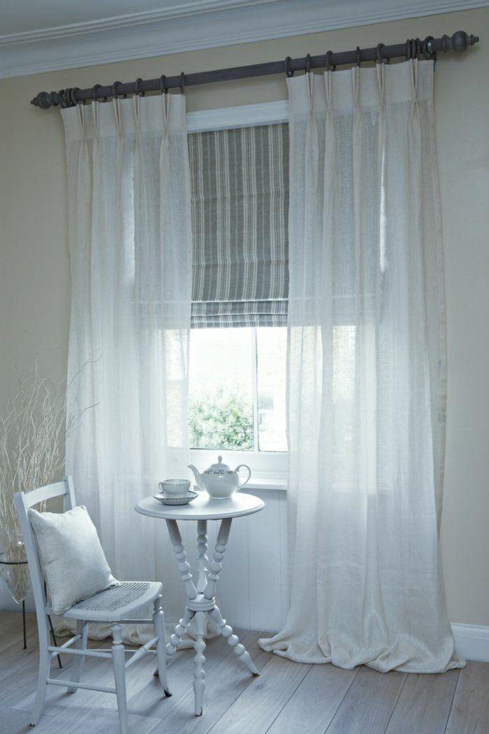 Le rideau voilage dans 41 photos! | Curtains | Pinterest | Curtains ...