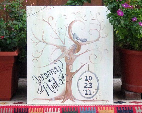 Custom Guest 'Book'  -add thumbprint/signature leaves!  $80