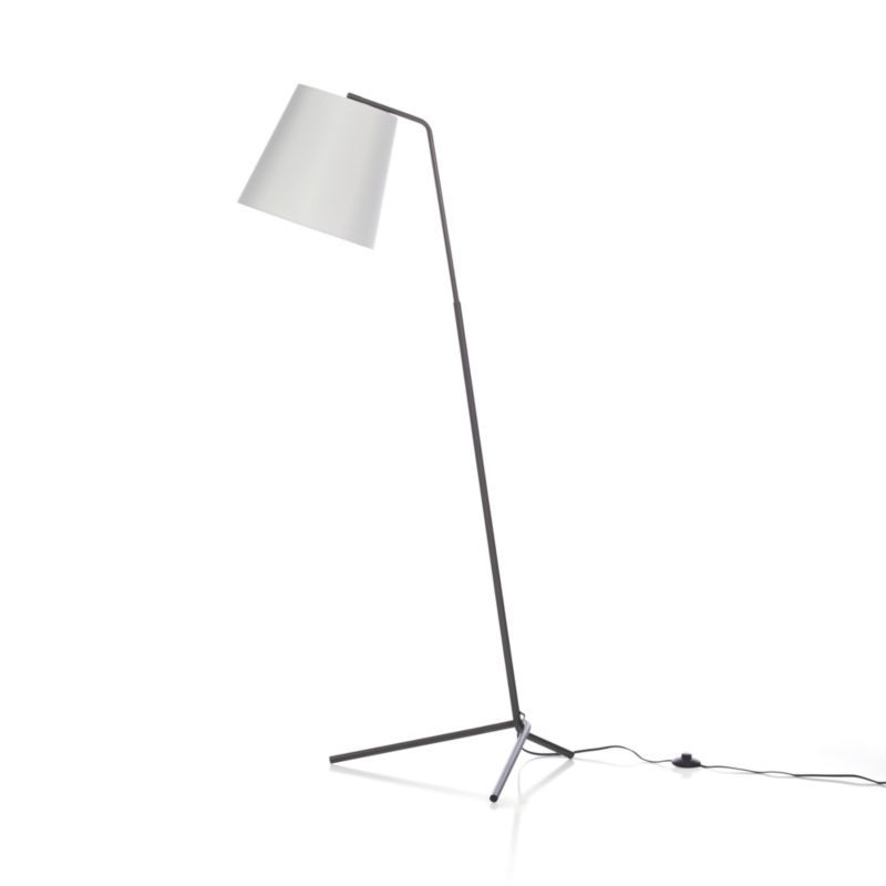 angle pewter floor lamp - crate and barrel | pewter, floors and