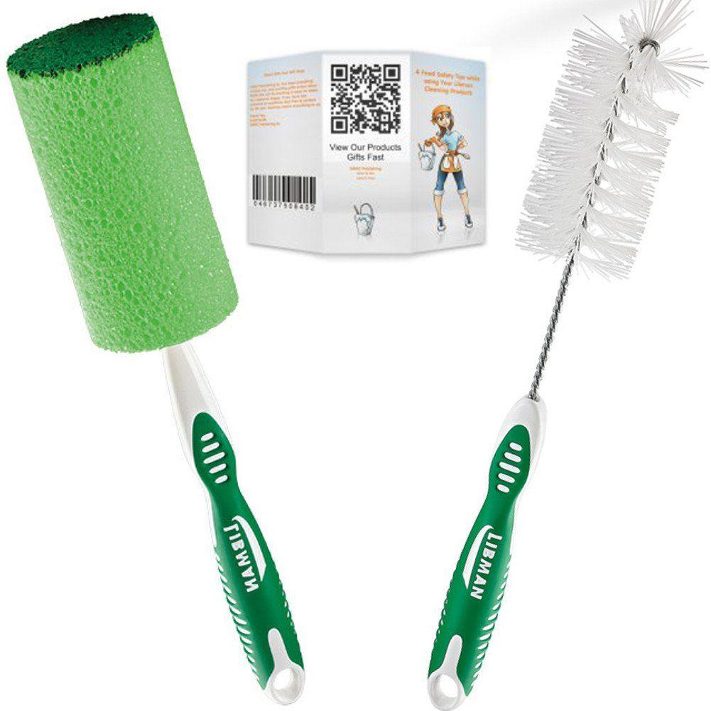 Libman Bottle Brush and Glass Sponge Bundle - 3 Items: 1 Bottle ...