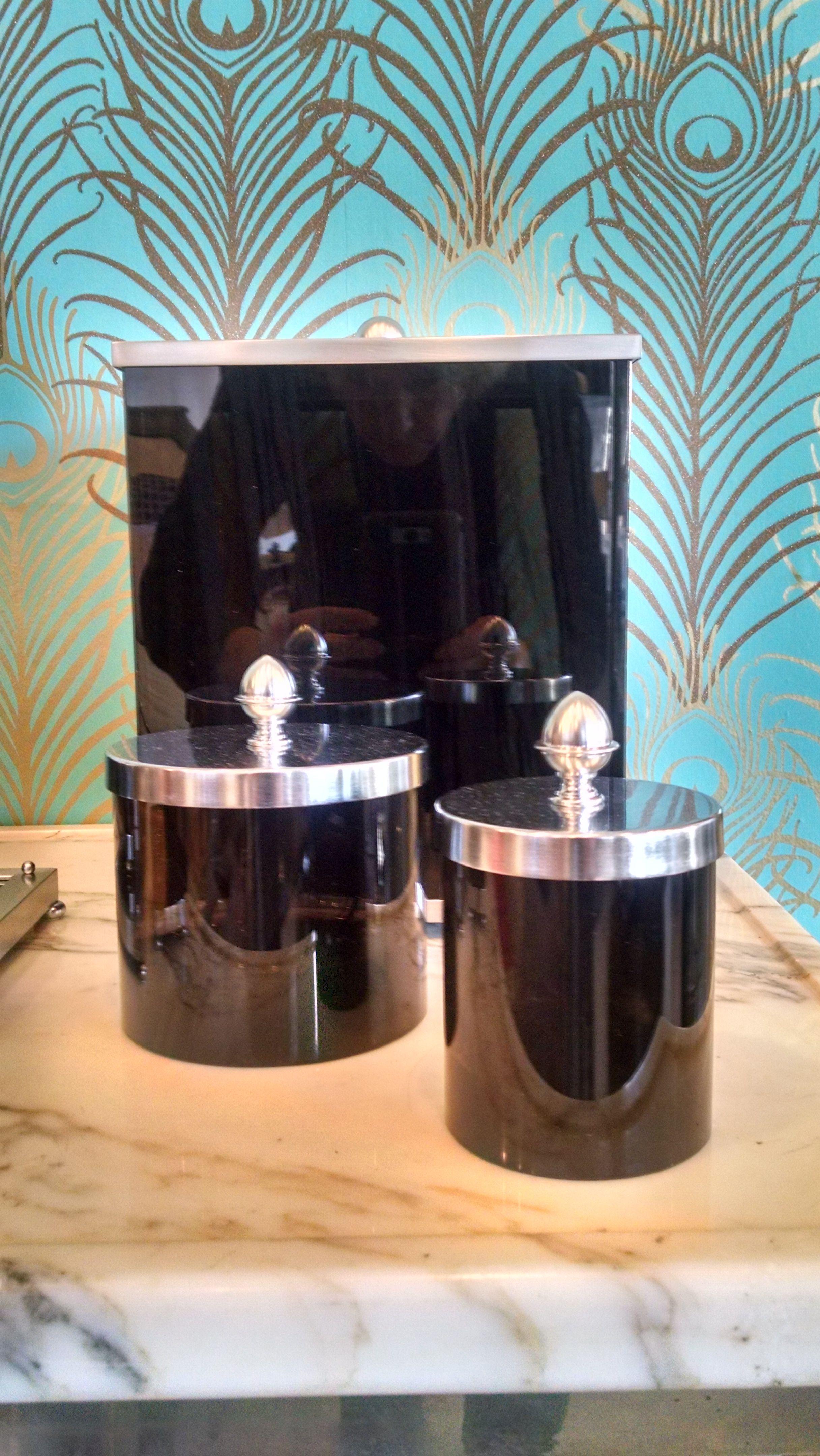 Sexy black handmade luxury bathroom accessories - Black and chrome bathroom accessories ...