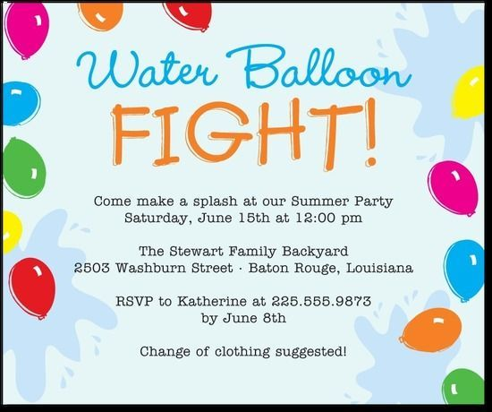 Water Themed Party Invitations Google Search