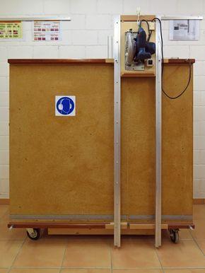 Eigenbau vertikale Plattensäge Materialwagen