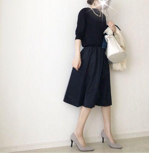 【coordinate】GUタックスカートで春コーデ の画像|Umy's プチプラmixで大人のキレイめファッション