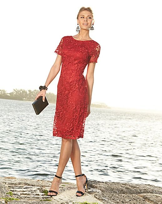 Joanna Hope Short Sleeved Lace Dress J D Williams Mother Of The