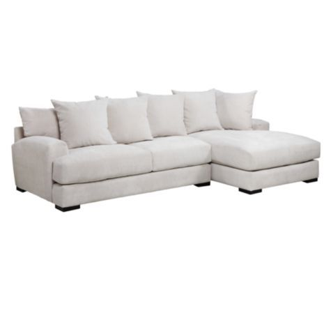 Stella Sectional With Chaise From Z Gallerie I Want In The Flannel Fabric Either Platinum Or Sand