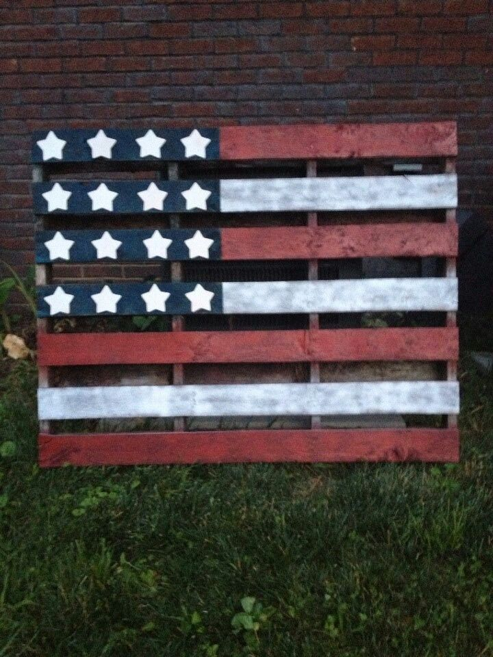 Wood pallet art american flag pallet american flags for White painted pallets
