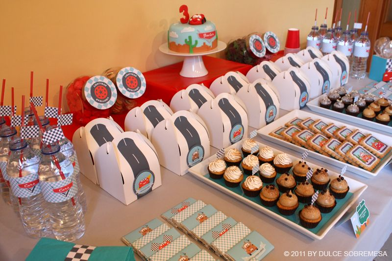 Disney Pixars Cars 3rd Birthday Party Lighting Mcqueen Party