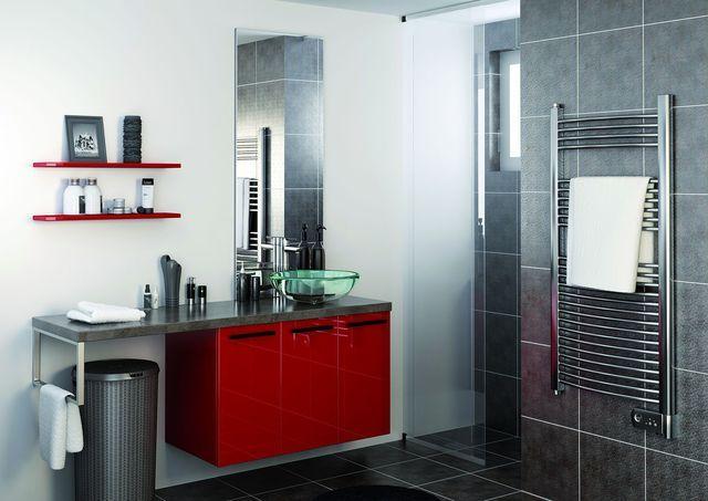 Meuble salle de bain  des modèles tendance - meuble salle de bain panier a linge